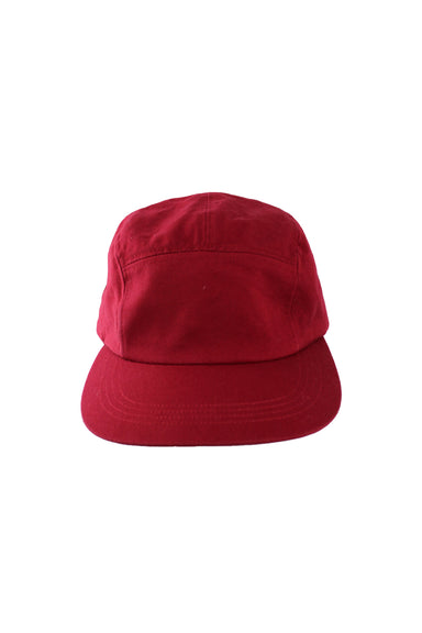 daystone maroon red baseball cap. features an adjustable strap, metal eyelets at vent holes, & seam line detailing.