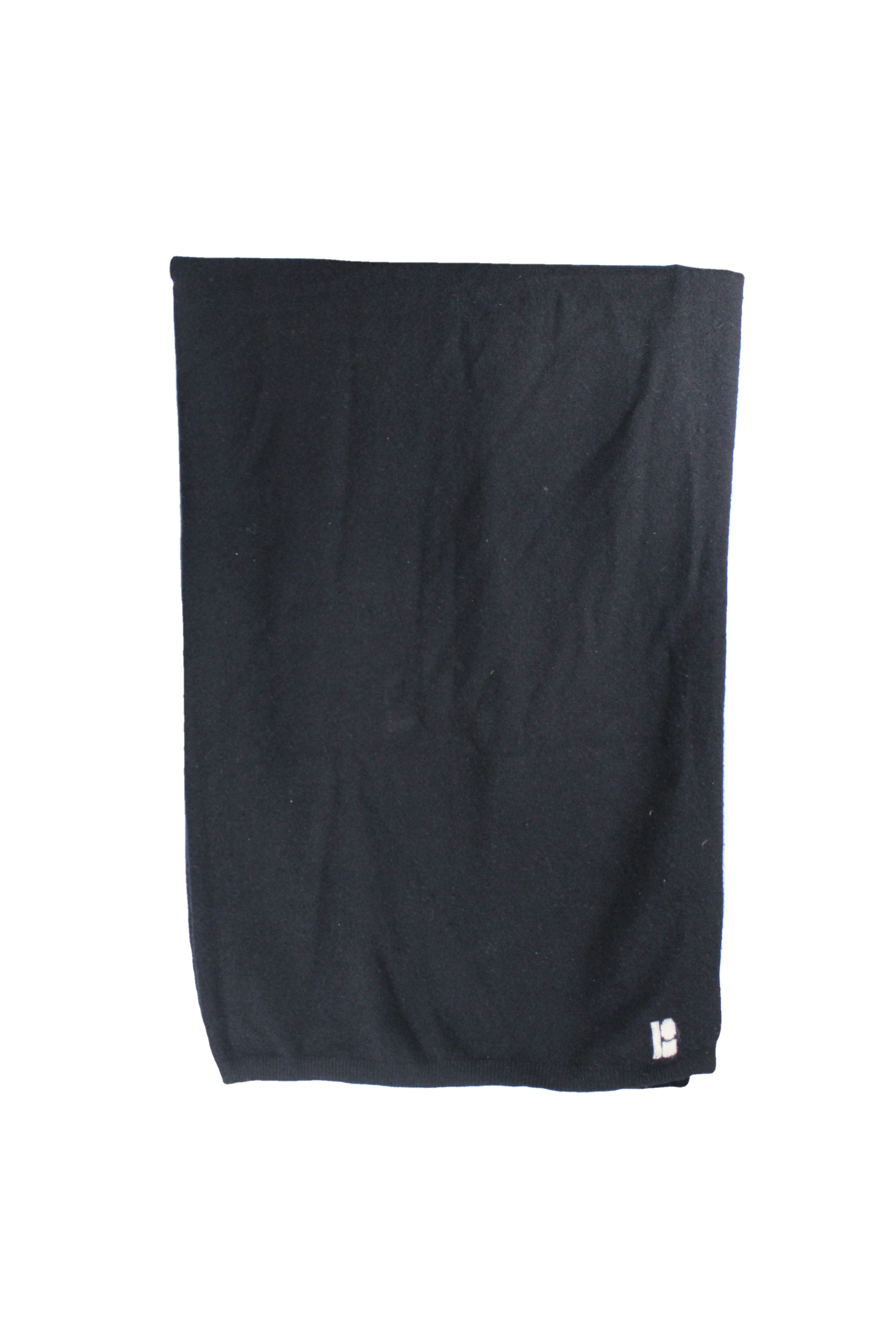 unlabeled black rectangle scarf.