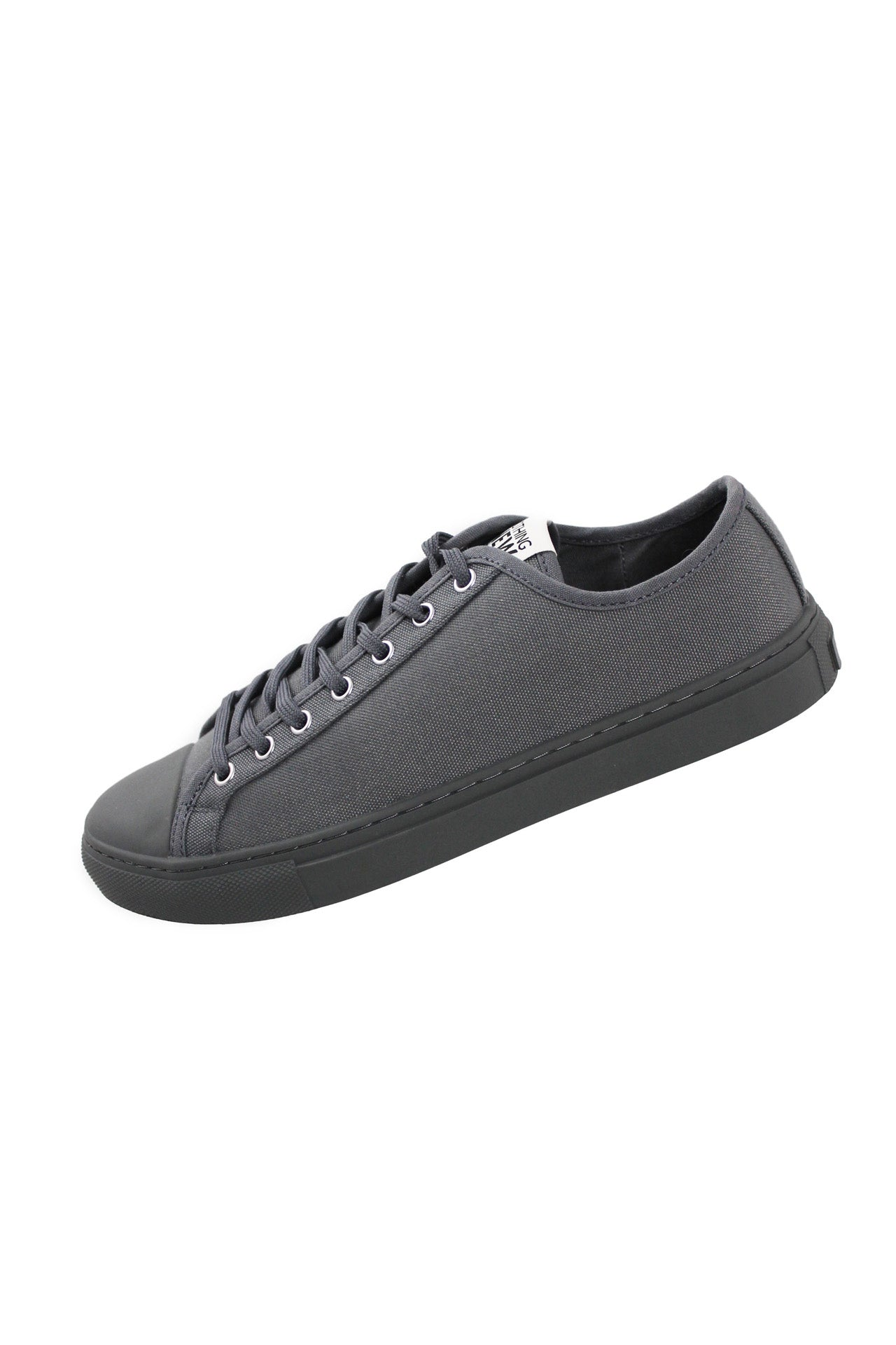 nothing new gray low top tennis shoes. features 7 eyelet lace up fastening.