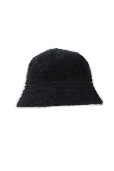 urban outfitters black fuzzy bucket hat.