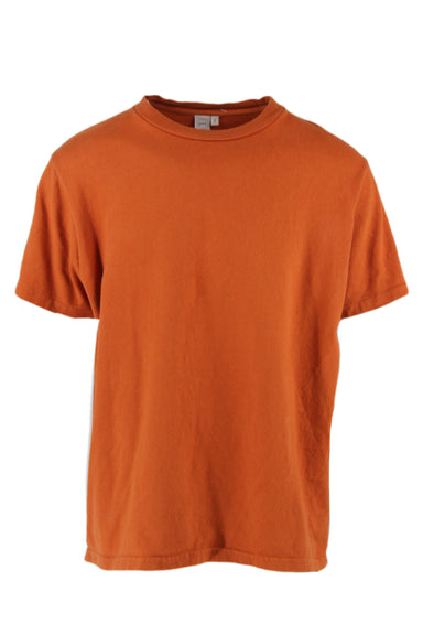 paa burnt orange short sleeve tee. features a ribbed round neckline & a regular cut.