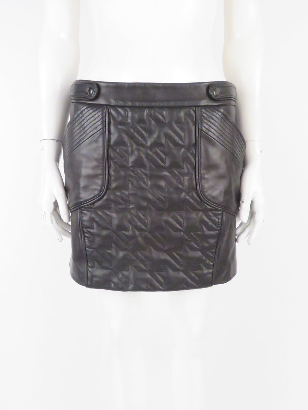 houndstooth leather