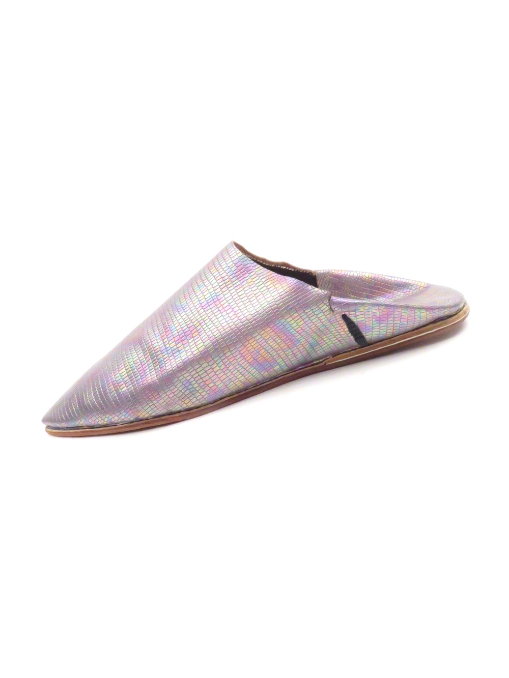super babough fes grey leather slippers.