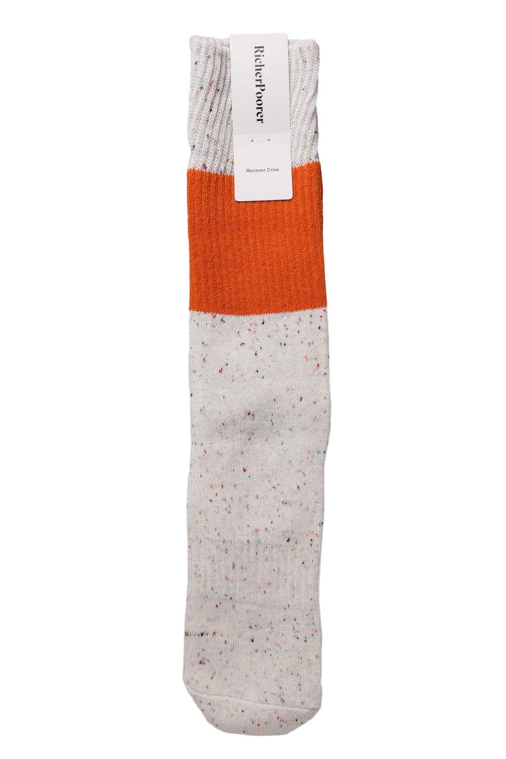 off-white speckled crew sock by richer poorer.