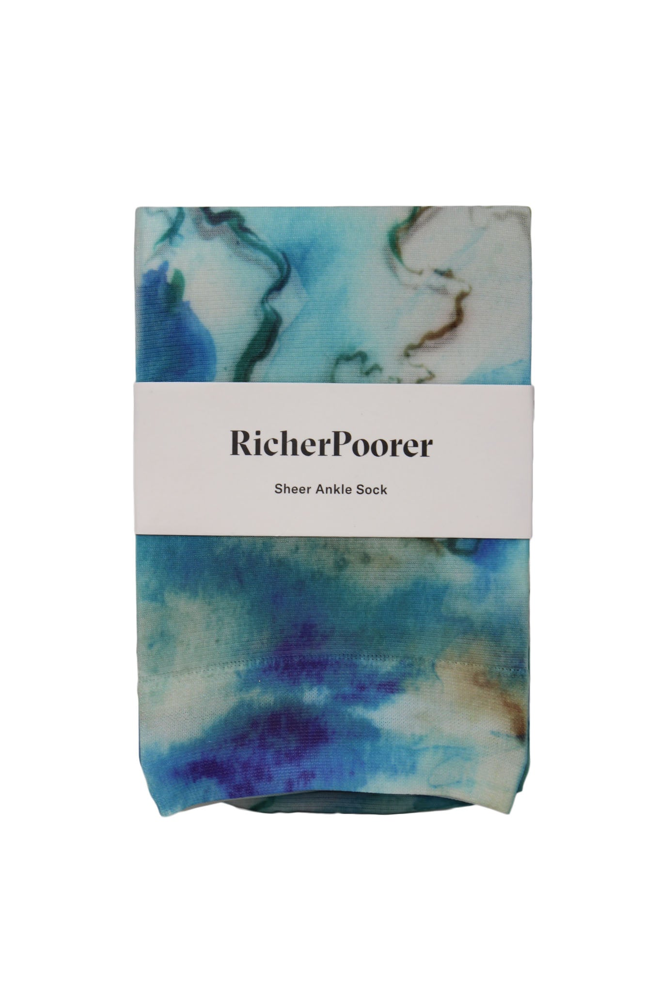 watercolor sheer ankle sock by richer poorer.