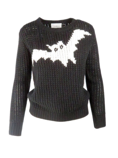 topshop x j.w. anderson black and white spooky ghost sweater. pullover style.
