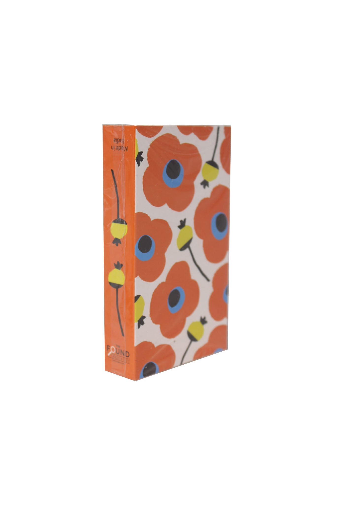 orange flowers matchbox by the found.