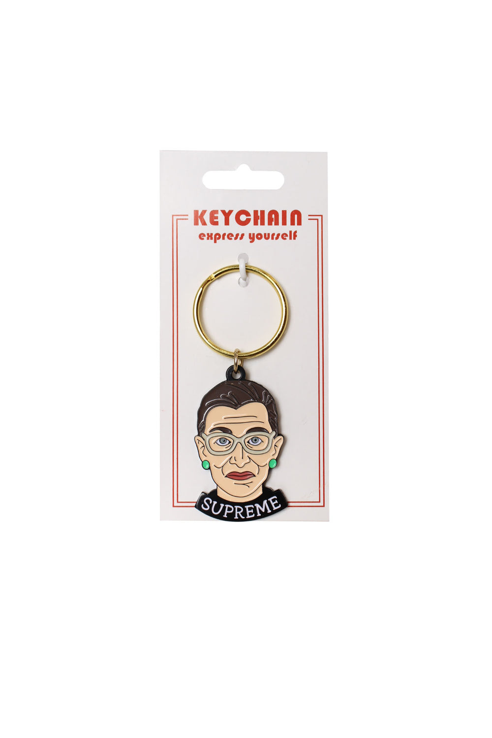 ruth bader ginsburg keychain by the found.