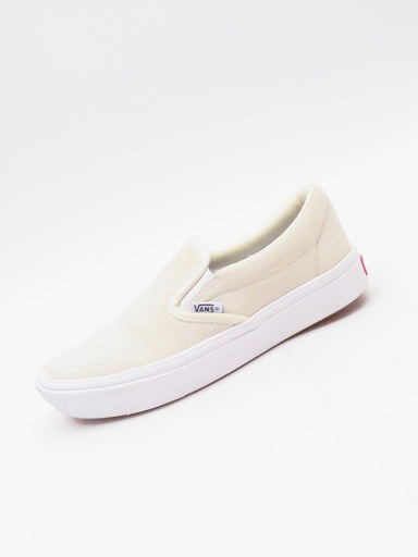 description: vans cream suede slide skate shoes. featuring suede leather upper. minor faint mark on toe (see photos).  color: cream  size: 7 us womens, 4.5 uk, 37 eur, 23.5 cm  fabrication: leather, rubber  condition (all items are secondhand): fair/good pre-owned condition. signs of distressing.  country of origin: china