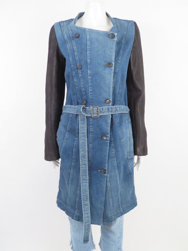 helmut lang denim coat.