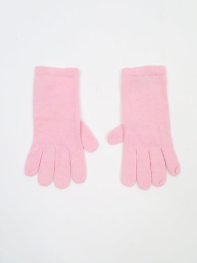louisa perini pink cashmere gloves.