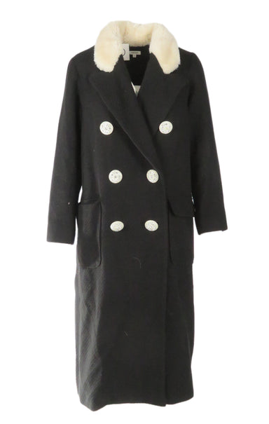 manoush black long sleeve coat