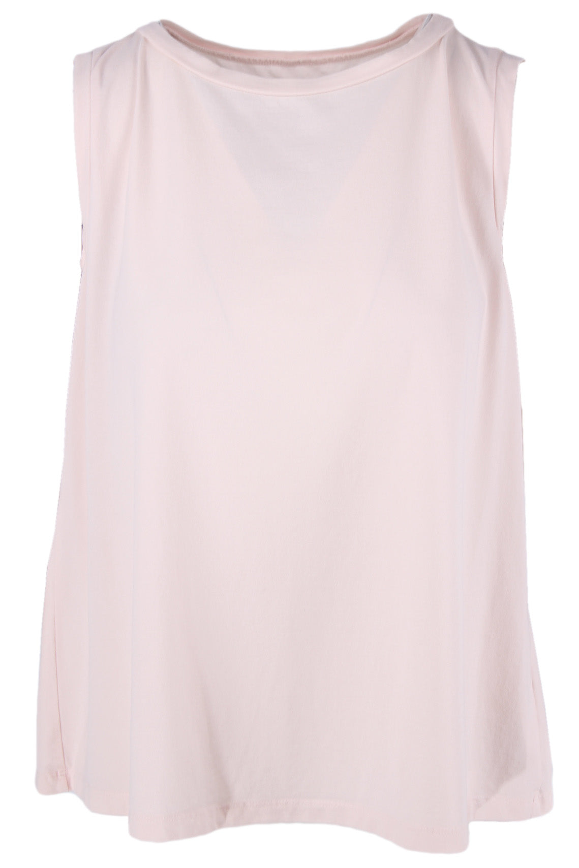 labo art pale pink tank top. features a round neckline & relaxed cut.
