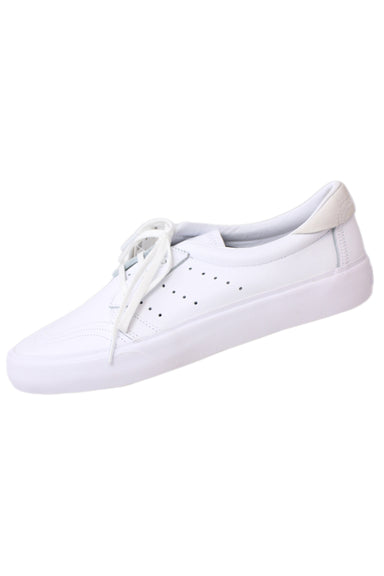 adidas coronado white leather low top sneakers. features design made for skateboarding. original tags attached.