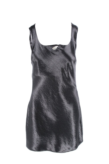 collina strada black mini dress. features keyhole detail at bust, concealed side zipper and interior lining.
