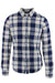 gant white/blue/multi plaid long sleeve button up shirt. features button down collar with pocket at left breast.