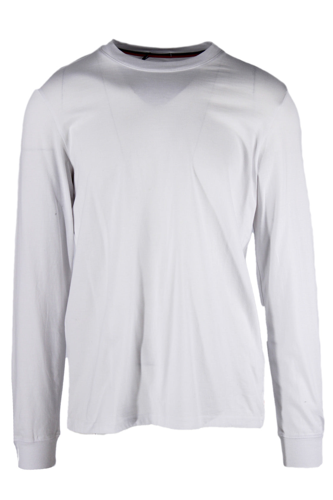 herschel white long sleeve shirt. features white exterior, long sleeves and round neckline.