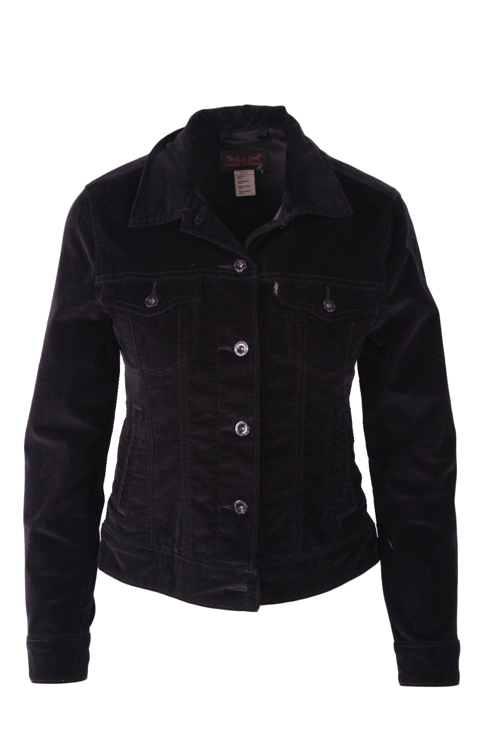 levi's black cropped jacket