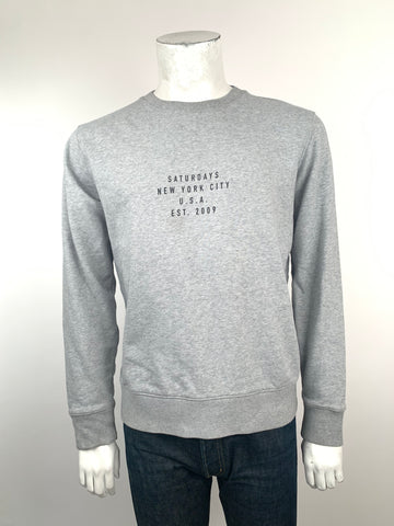 saturdays gray sweatshirt