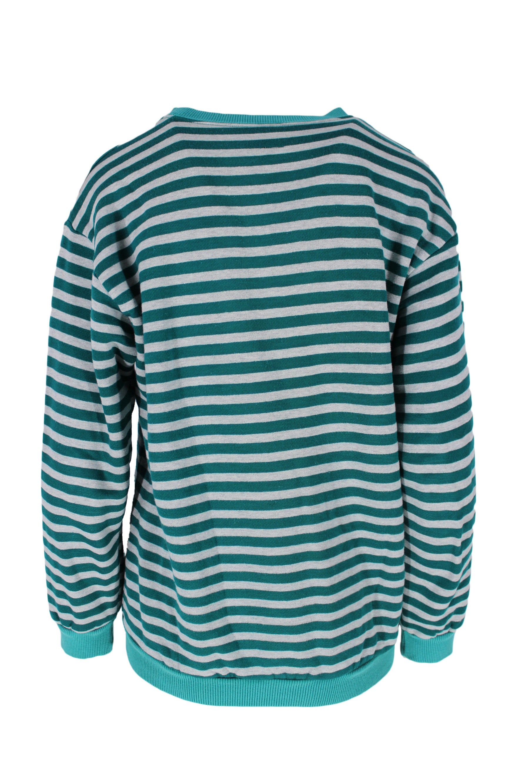 green striped sweatshirt