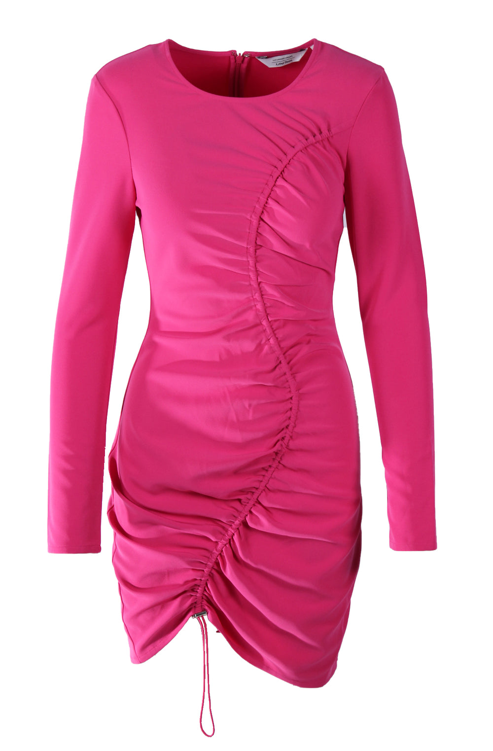 & other stories magenta long sleeve dress