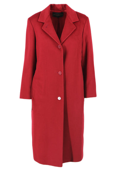 vintage saks fifth ave donna karan signature ruby longline collared jacket. features button down closure & two pockets.