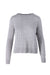 1901 grey cashmere sweater. features subtle ribbed design.