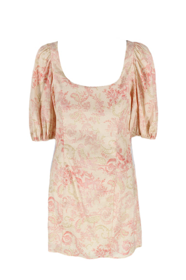 laura ashley x urban outfitters pink puff sleeve dress.