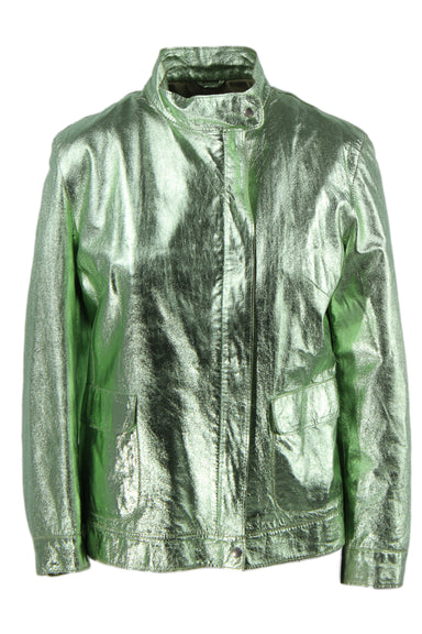 cdp metallic mint green bomber jacket.