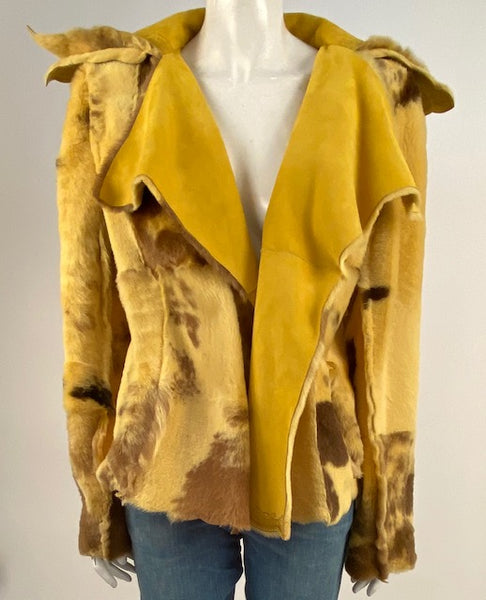 reversible vintage shearling coat