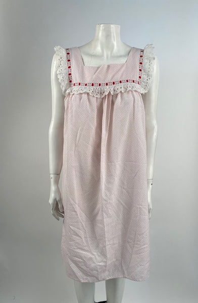 vintage night dress - dots and dots