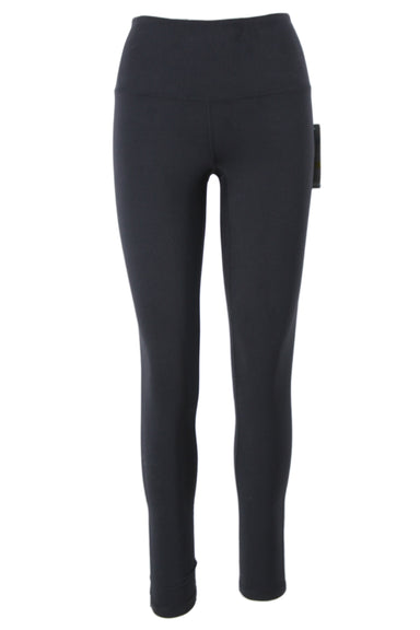 zella black high waist leggings. featuring wide contoured waistband with hidden pocket. with moisture wicking and 4-way stretch properties.