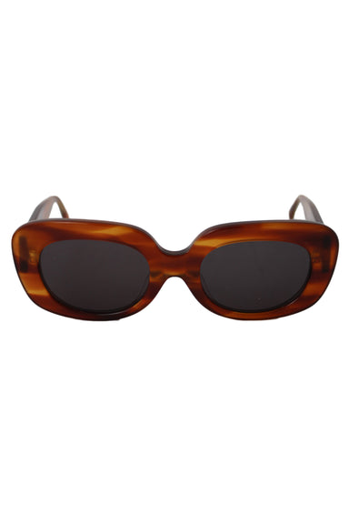 crap eyewear brown tortoise shell the velvet mirror sunglasses. featuring gold details. comes with original case.