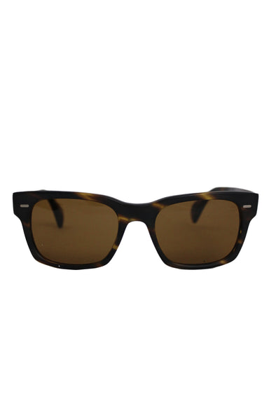 oliver peoples unisex brown horn-tone ryce sunglasses. come with original dust bag and case.
