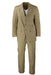 "vintage bill blass beige suit. featuring a tonal woven stripe. sold in ""as is"" condition for faint stain at shoulder ""see photos."