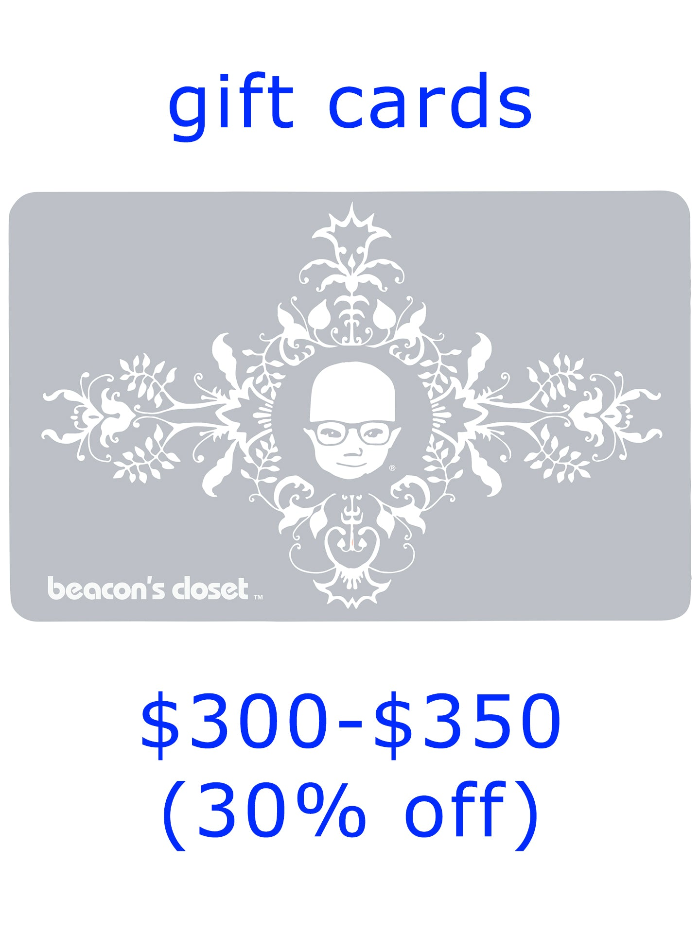 gift card sale $300-$350 (30% off)