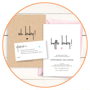 printable DIY baby invitation templates