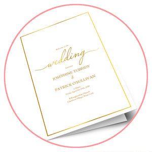 Printable Wedding Program Templates