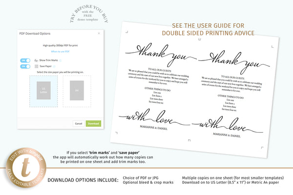 Wedding planner advertising template, photographer DIY marketing card