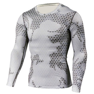New Camouflage Compression Workout Top