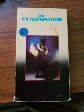 The Exterminator (VHS) - The Crimson Screen Collectibles, horror movie collectibles, horror movie toys, horror movies, blu-rays, dvds, vhs, NECA Toys, Mezco Toyz, Pop!, Shout Factory, Scream Factory, Arrow Video, Severin Films, Horror t-shirts