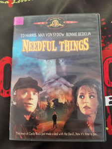 Needful Things (Used, DVD, OOP) - The Crimson Screen Collectibles, horror movie collectibles, horror movie toys, horror movies, blu-rays, dvds, vhs, NECA Toys, Mezco Toyz, Pop!, Shout Factory, Scream Factory, Arrow Video, Severin Films, Horror t-shirts