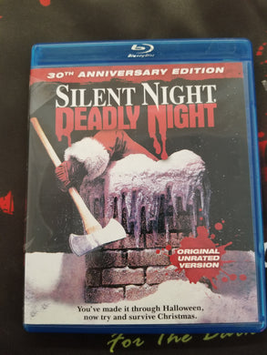 Silent Night Deadly Night 30th Anniversey Edition (Used, Blu-Ray) - The Crimson Screen Collectibles, horror movie collectibles, horror movie toys, horror movies, blu-rays, dvds, vhs, NECA Toys, Mezco Toyz, Pop!, Shout Factory, Scream Factory, Arrow Video, Severin Films, Horror t-shirts