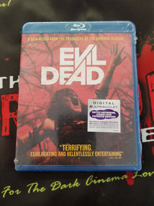Evil Dead ( 2013 Blu Ray) - The Crimson Screen Collectibles, horror movie collectibles, horror movie toys, horror movies, blu-rays, dvds, vhs, NECA Toys, Mezco Toyz, Pop!, Shout Factory, Scream Factory, Arrow Video, Severin Films, Horror t-shirts