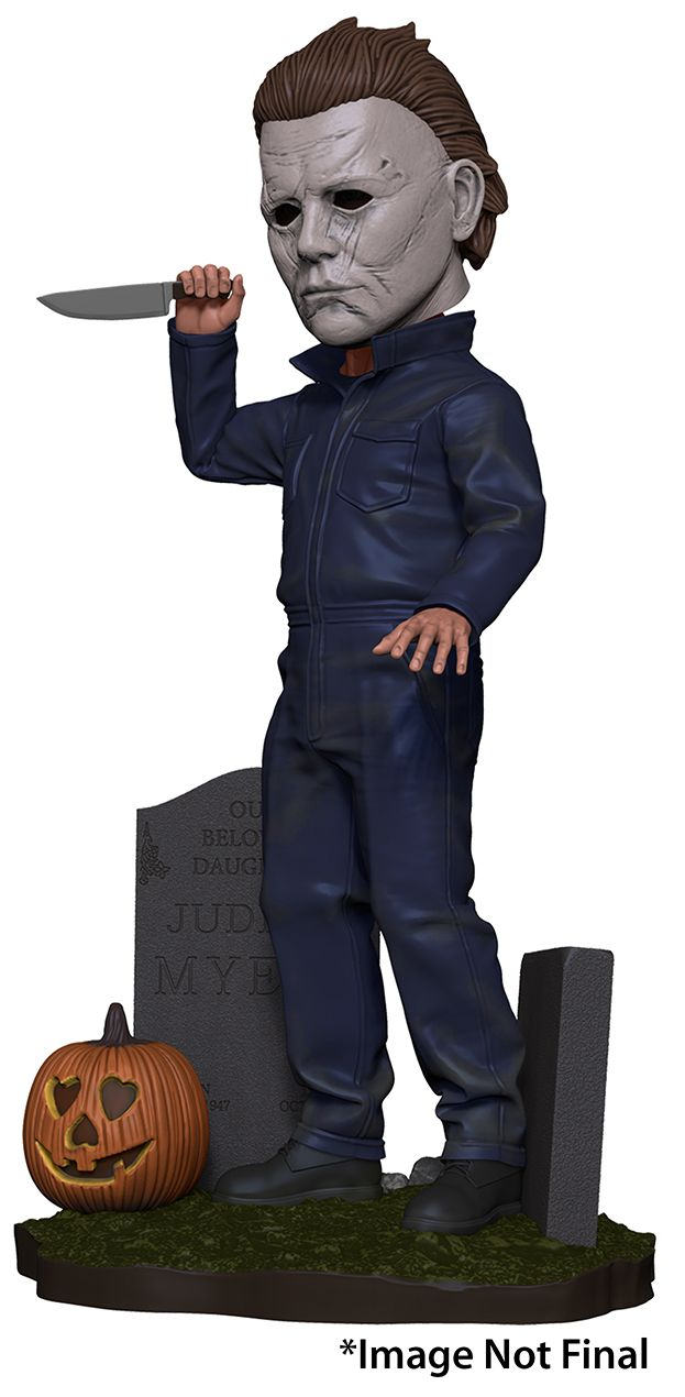 Halloween (2018) - Head Knocker - Michael Myers (IN-STOCK) - The Crimson Screen Collectibles, horror movie collectibles, horror movie toys, horror movies, blu-rays, dvds, vhs, NECA Toys, Mezco Toyz, Pop!, Shout Factory, Scream Factory, Arrow Video, Severin Films, Horror t-shirts
