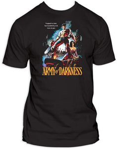 Army Of Darkness - Movie Poster - The Crimson Screen Collectibles, horror movie collectibles, horror movie toys, horror movies, blu-rays, dvds, vhs, NECA Toys, Mezco Toyz, Pop!, Shout Factory, Scream Factory, Arrow Video, Severin Films, Horror t-shirts