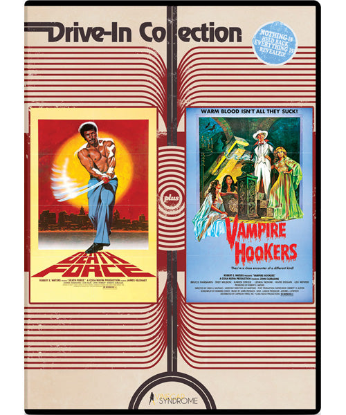 Drive-in Collection: Death Force/Vampire Hookers (DVD) - The Crimson Screen Collectibles, horror movie collectibles, horror movie toys, horror movies, blu-rays, dvds, vhs, NECA Toys, Mezco Toyz, Pop!, Shout Factory, Scream Factory, Arrow Video, Severin Films, Horror t-shirts
