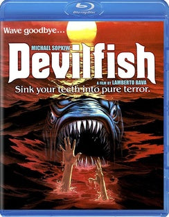MONSTER SHARK-AKA DEVILFISH (BLU-RAY/1984/WS 1.78) - The Crimson Screen Collectibles, horror movie collectibles, horror movie toys, horror movies, blu-rays, dvds, vhs, NECA Toys, Mezco Toyz, Pop!, Shout Factory, Scream Factory, Arrow Video, Severin Films, Horror t-shirts