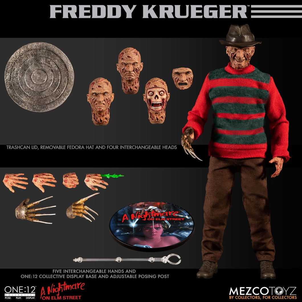 A Nightmare on Elm Street: Freddy Krueger One: 12 Collective - The Crimson Screen Collectibles, horror movie collectibles, horror movie toys, horror movies, blu-rays, dvds, vhs, NECA Toys, Mezco Toyz, Pop!, Shout Factory, Scream Factory, Arrow Video, Severin Films, Horror t-shirts