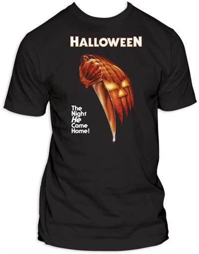 Halloween T-Shirt (Movie Poster) - The Crimson Screen Collectibles, horror movie collectibles, horror movie toys, horror movies, blu-rays, dvds, vhs, NECA Toys, Mezco Toyz, Pop!, Shout Factory, Scream Factory, Arrow Video, Severin Films, Horror t-shirts